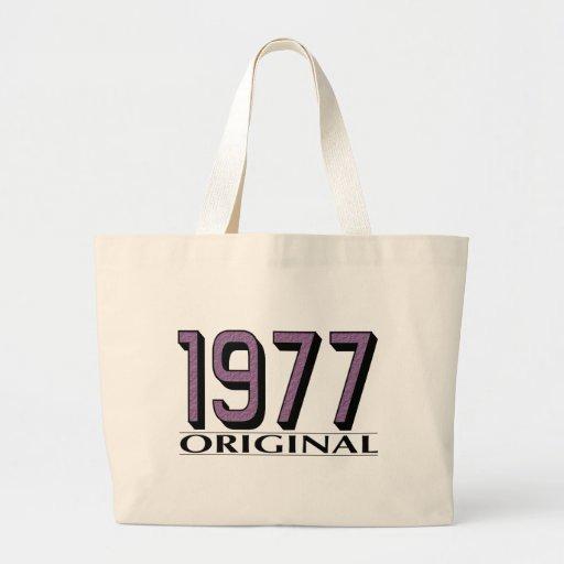 Original 1977 bolsa lienzo