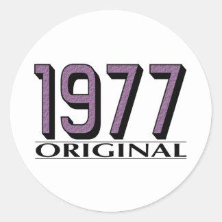 Original 1977 pegatina redonda