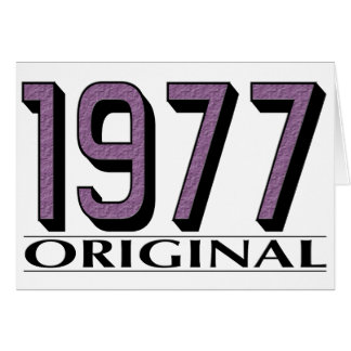 Original 1977 felicitación