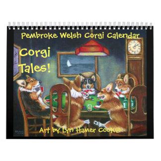 Original del calendario de los cuentos del Corgi