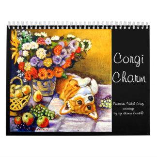 Original del encanto del Corgi del calendario del
