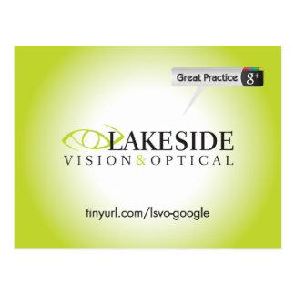 Orilla del lago Vision y postal óptica