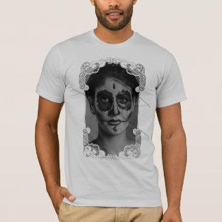 Ornament Flower Girl Skull Camiseta