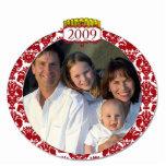 Ornamento 2009 del navidad de la foto de familia d esculturas fotográficas