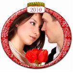Ornamento 2010 del navidad de la foto esculturas fotográficas