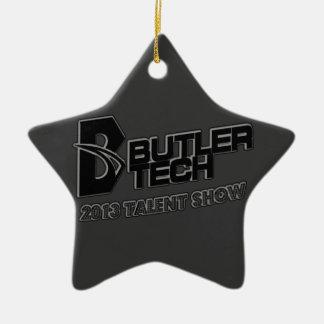 Ornamento 2013 de la demostración del talento adorno navideño de cerámica en forma de estrella
