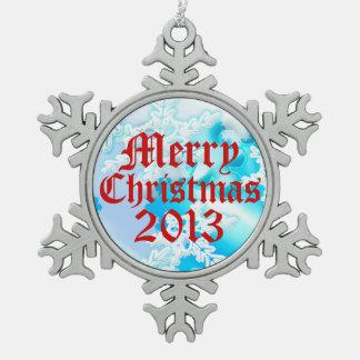 Ornamento 2013 de los copos de nieve Nevado de las Adornos
