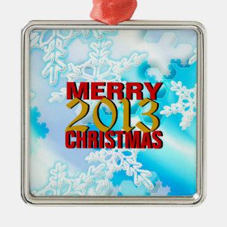 Ornamento 2013 del árbol de las Felices Navidad Adorno Navideño Cuadrado De Metal