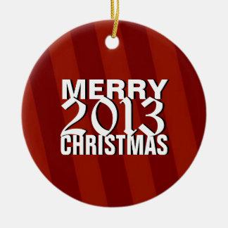 Ornamento 2013 del árbol de las Felices Navidad Adorno Navideño Redondo De Cerámica