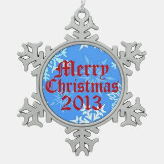 Ornamento 2013 del copo de nieve de las Felices Adornos