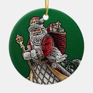 Ornamento 2013 del navidad de Papá Noel Adorno Navideño Redondo De Cerámica