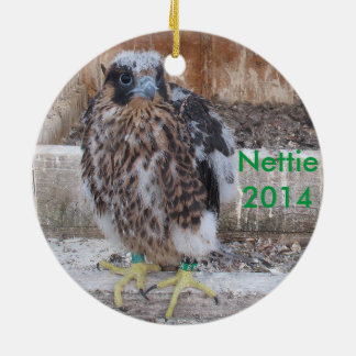 Ornamento 2014 de Nettie Adorno Navideño Redondo De Cerámica