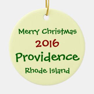 ORNAMENTO 2016 del NAVIDAD de Providence Rhode