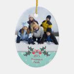 Ornamento adaptable de la foto de familia del ornamento de navidad
