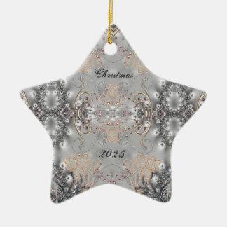 Ornamento adornado de la estrella del estilo del V Adornos De Navidad