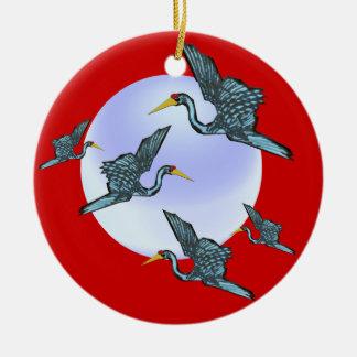 Ornamento afortunado de las grúas adorno de navidad