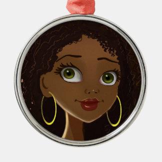 Ornamento africano de la mujer ornamento de navidad