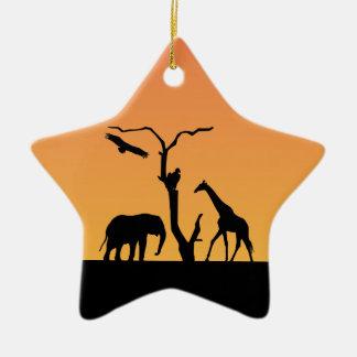 Ornamento africano de la puesta del sol de la adorno para reyes