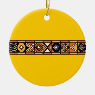 Ornamento africano del amarillo del modelo ornamentos de navidad