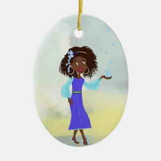 Ornamento africano del chica ornamentos para reyes magos