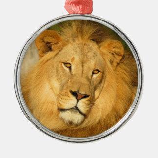 Ornamento africano del león ornamento para arbol de navidad
