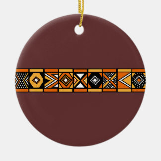 Ornamento africano del marrón del modelo ornamento de navidad