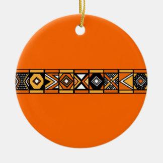 Ornamento africano del naranja del modelo ornamento de navidad