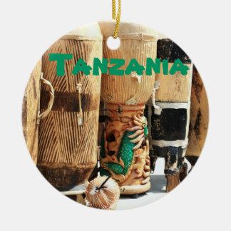 Ornamento africano del navidad de los bongos de adornos