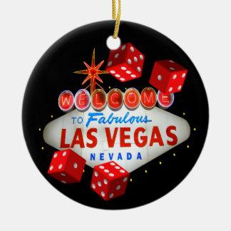 Ornamento agradable de Las Vegas de los dados