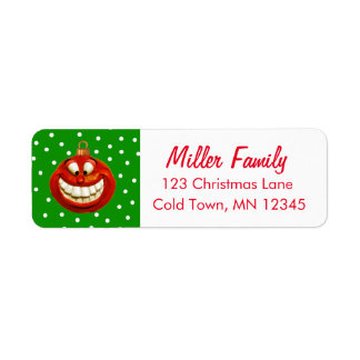 Ornamento alegre del navidad etiqueta de remite