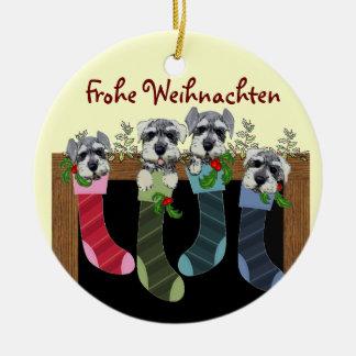 Ornamento alemán de las Felices Navidad Adorno Navideño Redondo De Cerámica