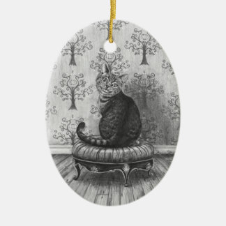 Ornamento Alicia del gato de Cheshire en el Adornos