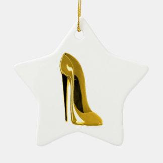 Ornamento amarillo de oro del zapato del estilete ornamento de reyes magos