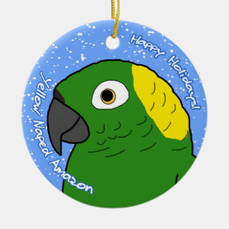 Ornamento amarillo del navidad de Naped el Adorno Navideño Redondo De Cerámica