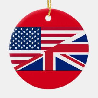 Ornamento americano y británico del ciudadano dual