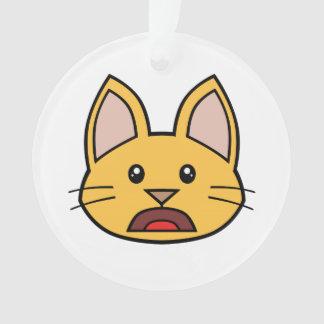 Ornamento anaranjado 03 del gato FACE0000004