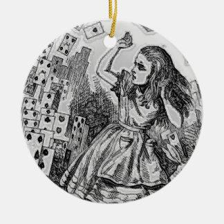 Ornamento antiguo del navidad del ejemplo de libro adorno navideño redondo de cerámica