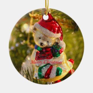 Ornamento antiguo del oso del navidad