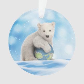 Ornamento ártico del mundo del oso polar