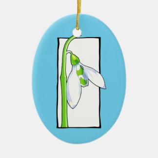 Ornamento azul blanco de Snowdrop Ornamente De Reyes