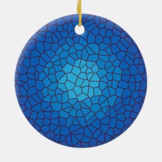 Ornamento azul de los >Xmas del diseño del vitral