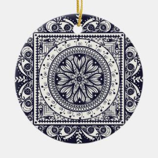 Ornamento azul de medianoche de la mandala