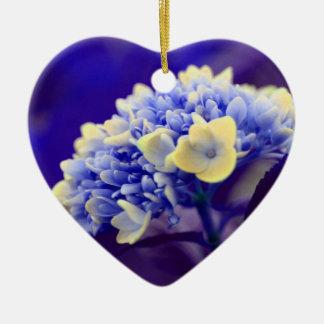 Ornamento azul eléctrico de la flor del Hydrangea Ornamentos Para Reyes Magos