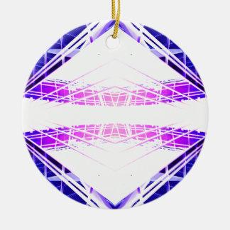 Ornamento azul púrpura de Navidad del futurismo de Adorno Redondo De Cerámica