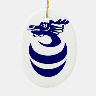 Ornamento azul y blanco de los dragones ornamento para arbol de navidad