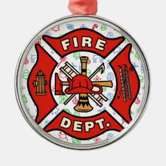 Ornamento banal del navidad del cuerpo de bomberos