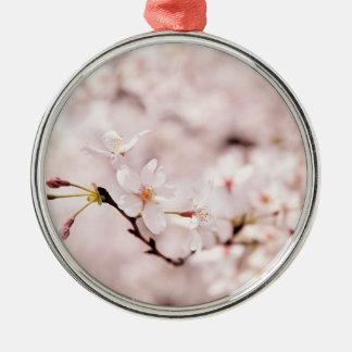 Ornamento blanco de Bokeh de la flor de cerezo Adorno Para Reyes