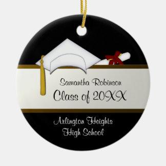 Ornamento blanco de la graduación del casquillo ornamento para reyes magos