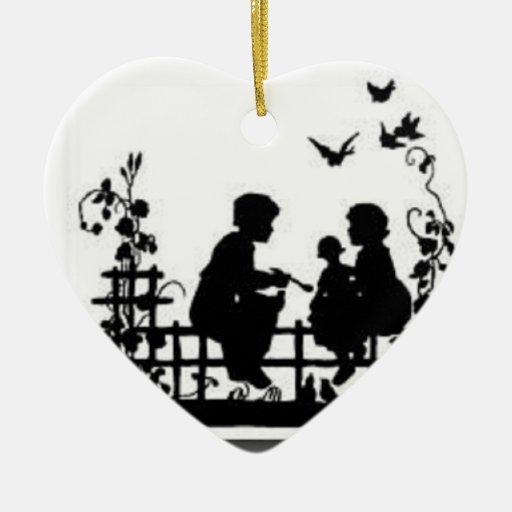 Ornamento blanco y negro de la familia ornato zazzle - Familias en blanco y negro ...