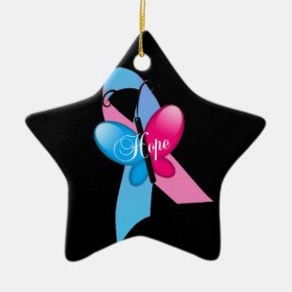 Ornamento bonito de estrella adorno navideño de cerámica en forma de estrella